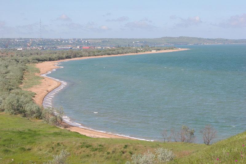 Пляжное побережье у Героевки