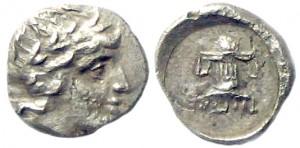 Перисад III серебряный диобол