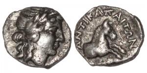 Царь Пантикапея Перисад IV. Серебряный тетробол