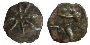 Царь Пантикапея Перисад IV, серебрянный обол