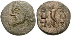 Царь Пантикапея Перисад IV, медный тетрахалк
