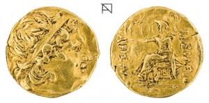 Царь Пантикапея Перисад 5  золотой статер