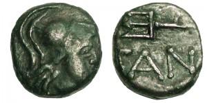 Царь Пантикапея Перисад 5. Медный дихалк