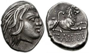 Перисад - I, серебряная гемидрахма