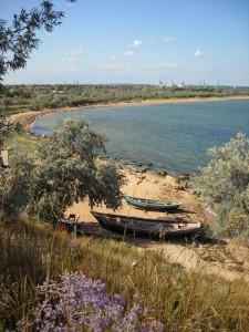 пляжи за поселком, в сторону Керчи