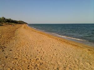 Песчаный берег. Героевское. Керчь