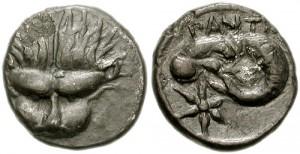 Левкон I, Серебрянный Диобол