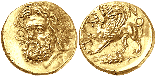 Левкон I, Золотой Статер