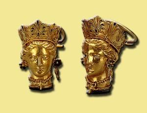 Боспорское царство, Пантикапей. Каменная гробница 1840 -серьги-350г.до.н.э.