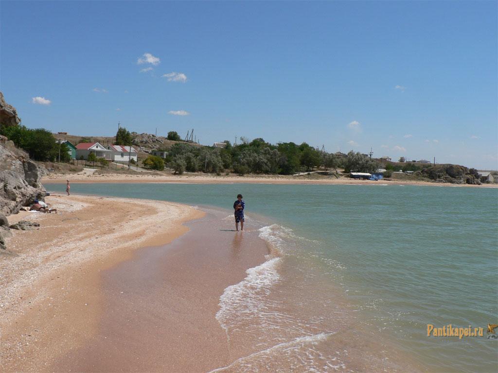 пляж село золотое