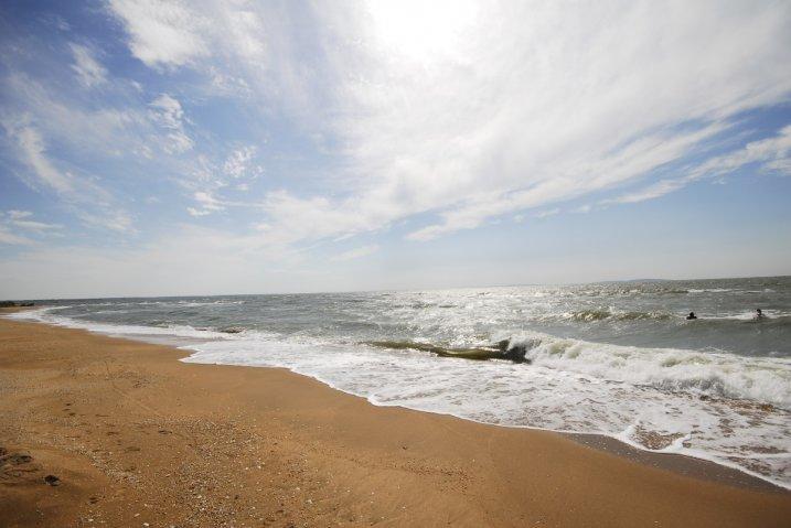 село Золотое, Азовское море, пляж