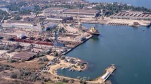 Керченский морской торговый порт, с высоты птичьего полета