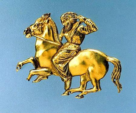 Конный скиф золотая бляха