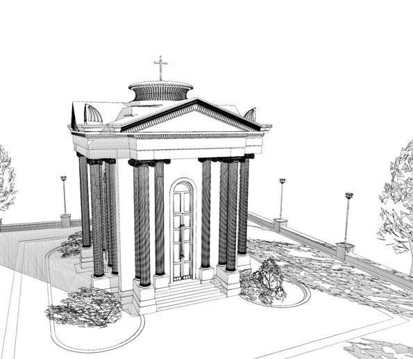 Проект реконструкции часовни Стемпковского на Митридате