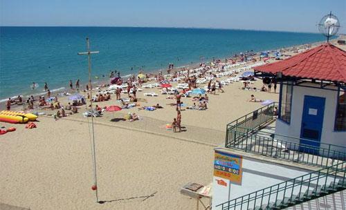 """Пляж в Саках, база отдыха """"Прибой"""""""