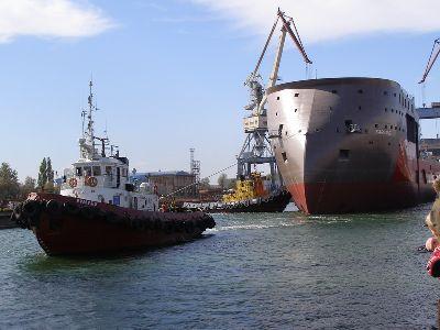 Судостроительный завод «Залив» спуск танкера