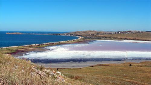 Курортное и озеро Чокрак