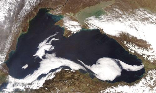 Черное Море вид из космоса