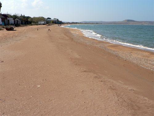 Пляж в Курортом, под Керчью