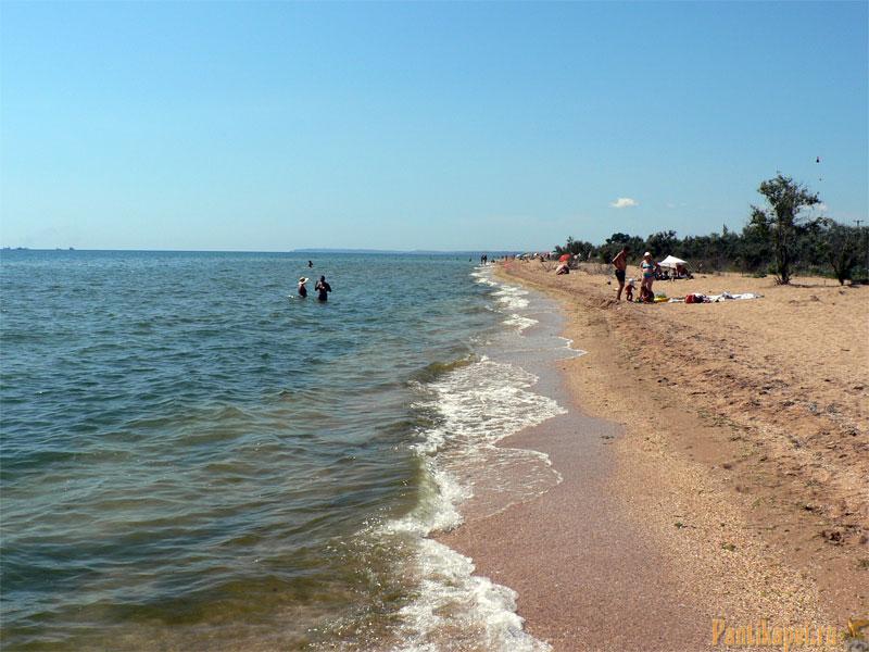 Пляжная полоса на Аршинцевской косе