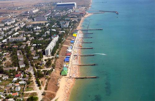 Поселок Приморский под Феодосией