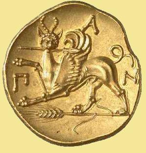 грифон на монете сатира-2