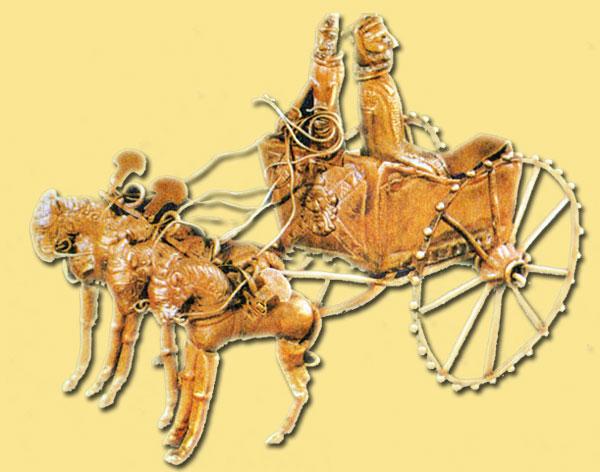 Золотая модель колесницы - шедевр Амударьинского клада