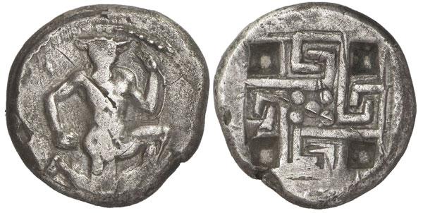 Крит, Кносос, серебряный статер, 440 год  н. э.