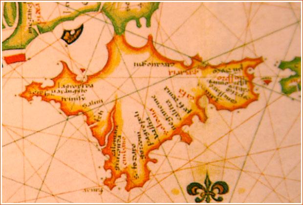 Карта Крыма 1559 год