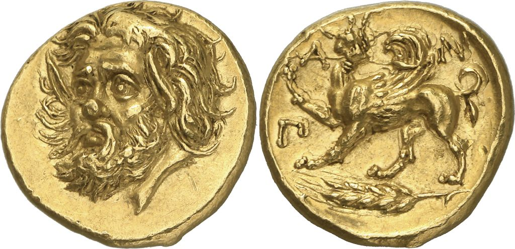 Золотой статер из коллекции Просперо
