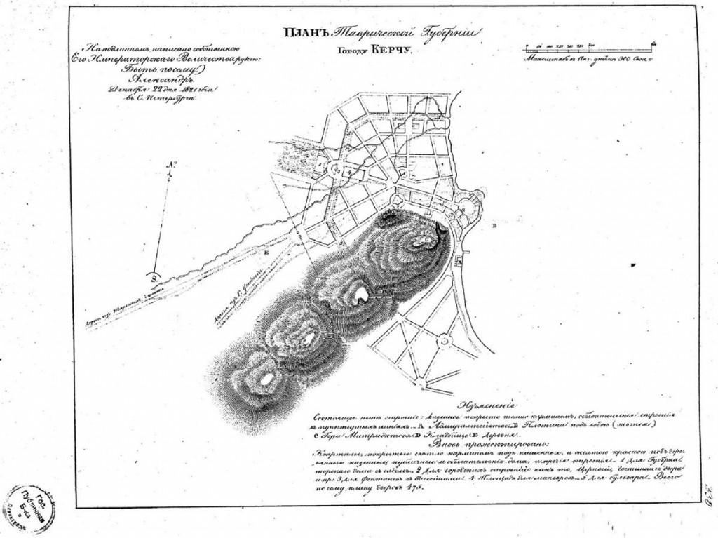 План перспективного развития застройки города Керчи, разработанный Ф.Шалем, утвержденный императором Александром I 22 декабря 1821 г.