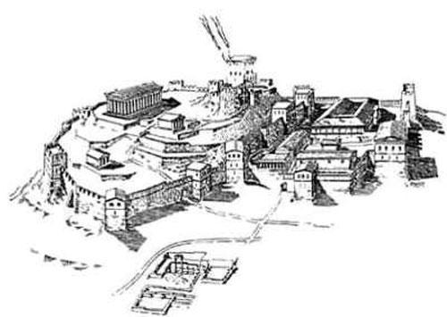 Город Пантикапей, реконструкция