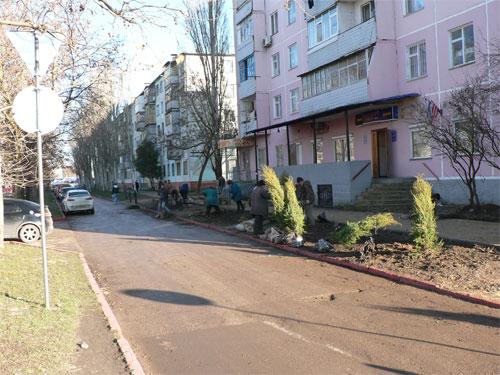 В Керчи благоустраивают улицу Самойленко