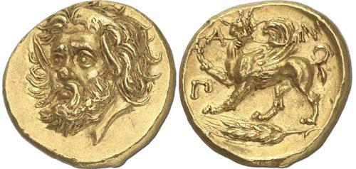 Золотой статер Пантикапея из коллекции Просперо