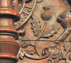 Чертополох на гербе Шотландии