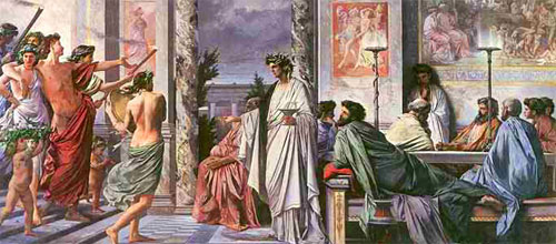 Древние греки пьют вино