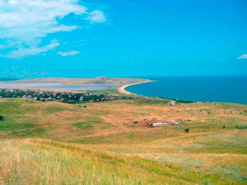 Побережье Курортного, озеро Чокрак