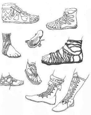 Обувь древних Греков