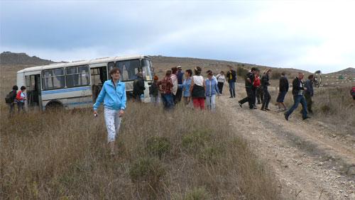 Экологический десант на Опуке, октябрь 2011