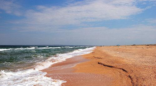 Пляж на Арабатской стрелке