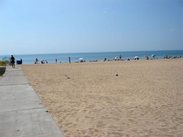 Пляж в Евпатории, санаторий МО