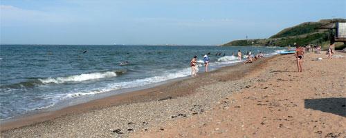 Поселок Подмаячный, пляж