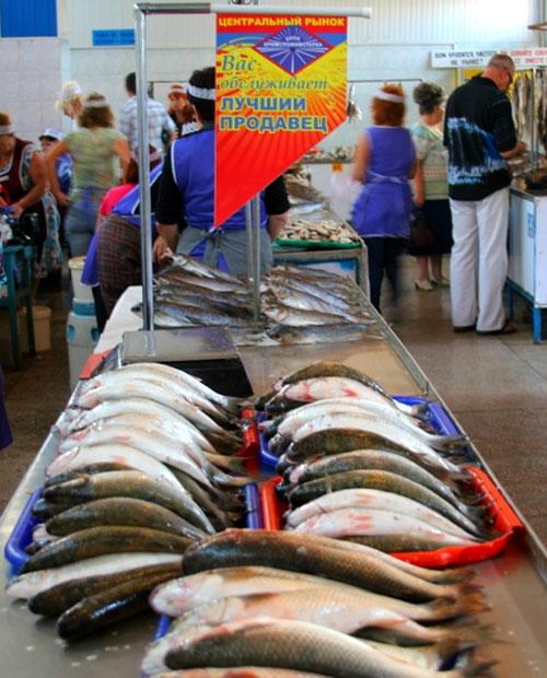 Рыбный рынок в Керчи