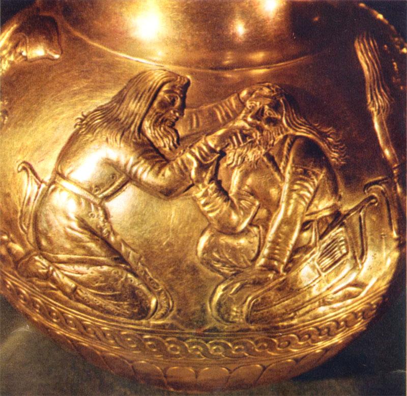 Сцена с кубка из Куль-оба. Врачевание