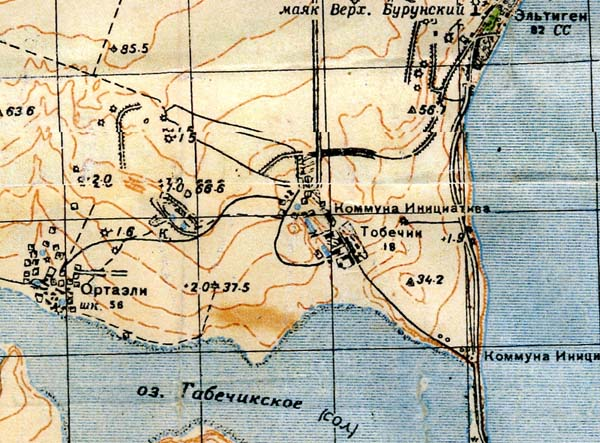 Керчь фрагмент карты 1941