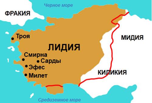 Милет на карте
