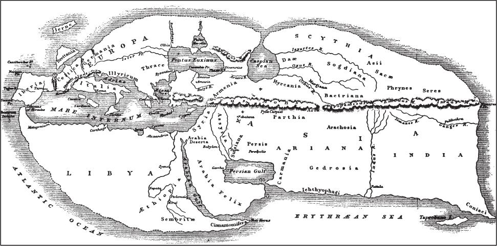 Карта мира Страбона