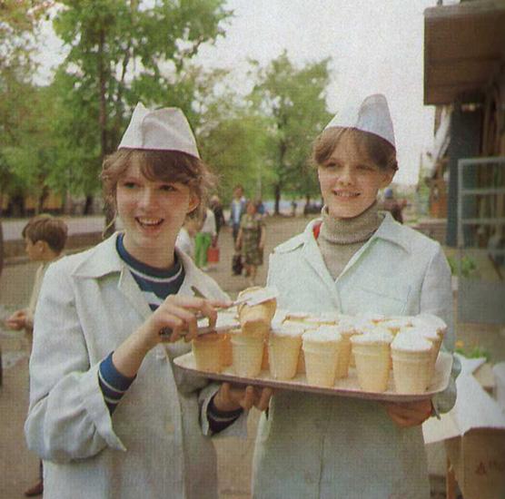 Мороженое пломбир, СССР фото 1977