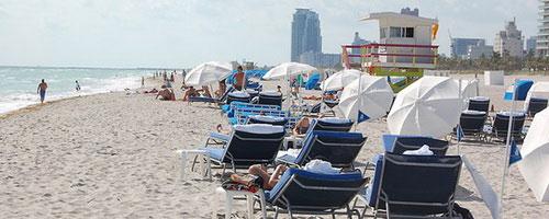 Пляж South Beach в Майами