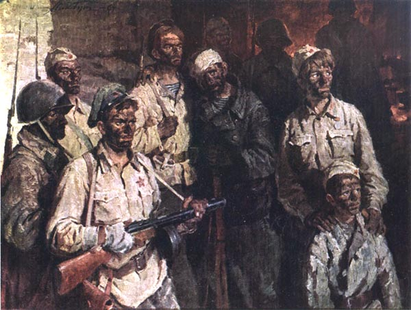Аджимушкай. Солдаты подземного гарнизона 1964 год.